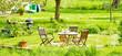 Leinwandbild Motiv Garten im Sommer