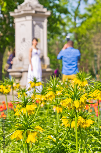Wedding photo session at Stadtpark, downtown of Vienna