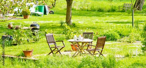 Deurstickers Tuin Garten im Sommer