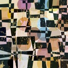 motif géométrique abstrait arrière-plan, rétro / vintage style, avec
