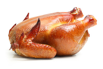 Roast chicken isolated