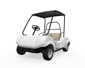 Golf Car Isolated