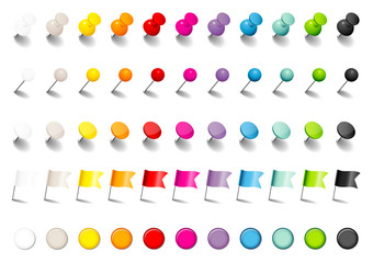 Pins, Needles, Flags & Magnets Set Shadow