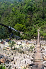 rope bridge on the Annapurna trek