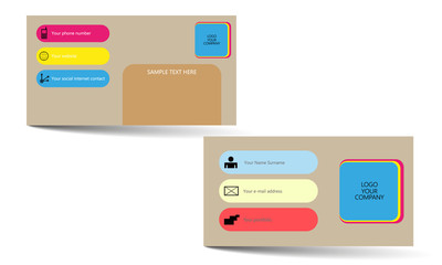 popular design vector business card options