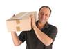 Mann mit Paket