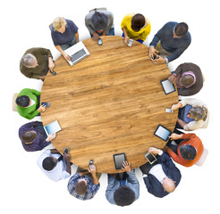 Multiethnic People Social Networking