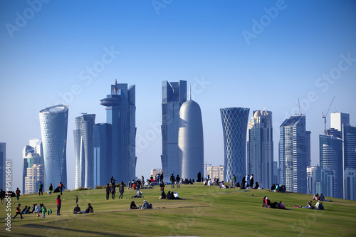 Park  in Central Doha, Qatar - 64856461
