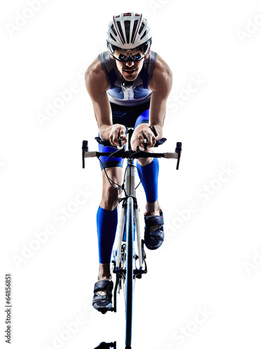 Bicycles man triathlon iron man athlete cyclists bicycling