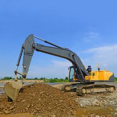 Gravel excavated