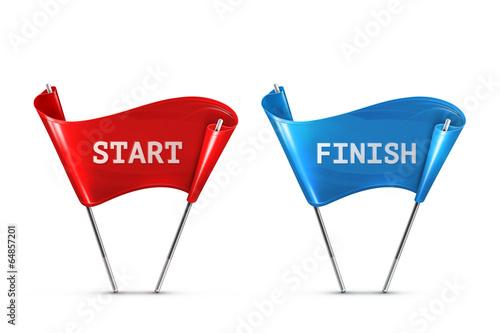 Start and Finish, vector illustration - 64857201
