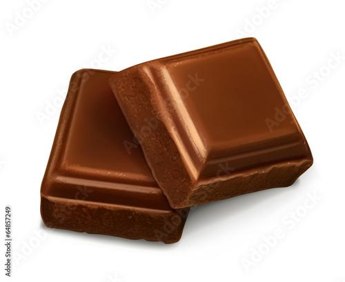 Chocolate pieces, vector illustration - 64857249