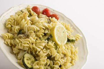 Pasta spirals with zucchini
