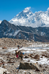 Mt. Everest from Renjo mountain pass, Everest region, Nepal