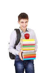 Cheerful Student with a Books