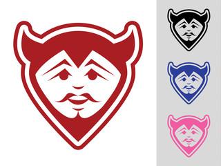 Devil Face Mascot