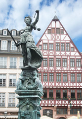 Justitia Statue Frankfurt Germany