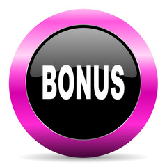 bonus pink glossy icon