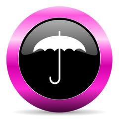 umbrella pink glossy icon