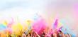 Leinwanddruck Bild - Holi Festival