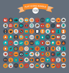 Huge modern collection of flat vector icons