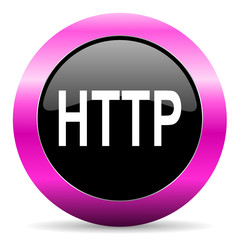 http pink glossy icon