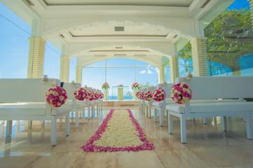 bali glass church wedding