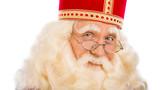 Sinterklaas close up on white background