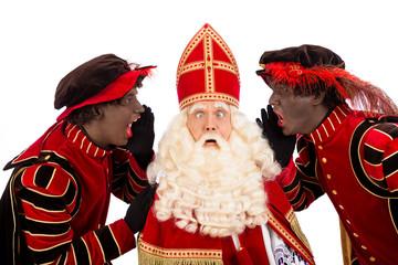 zwarte Pieten shouting to sinterklaas
