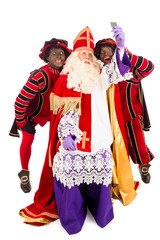 Sinterklaas and Zwarte Piet taking Selfie