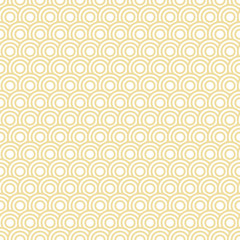 Retro Seamless Pattern Circles Yellow