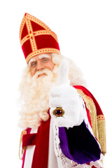Sinterklaas Thumbs Up on white background