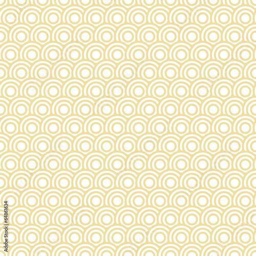 Retro Seamless Pattern Circles Yellow - 64861634