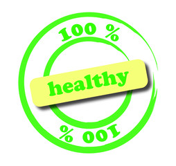 100 % healthy