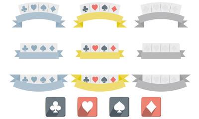 Poker symbols isolated on white background