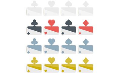 Poker symbols Flat Design