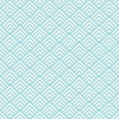 Retro Seamless Pattern Corners Turquoise