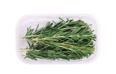 Fresh green rosemary in the package.