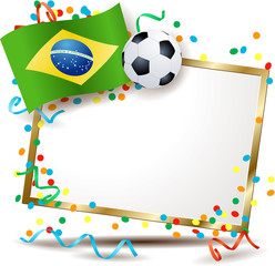 Brazilian signboard, soccer theme