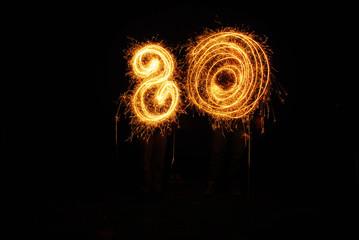 Sparkler Swirls