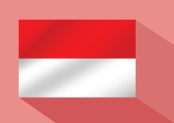illustration of the flag of Indonesia