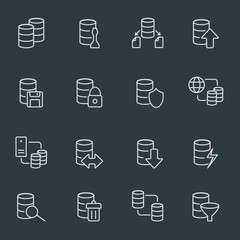 Database icon set