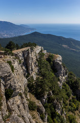 View from mountain Ai Petri near Yalta