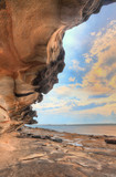 Botany Bay Australia as the sun sets poster