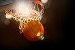 Basketball scoring basket at a sports arena - 64864899