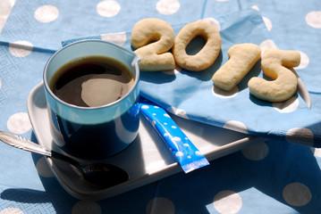 Coffee and cookies 2015 in blue