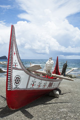 The canoe in Lanyu.