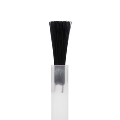 Brush for nail polish on white background