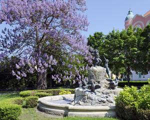 The Duck fountain in Bratislava
