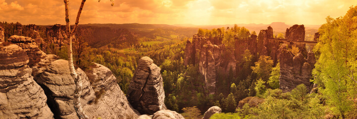 Panoramafoto Elbsandsteingebirge / Sächsische Schweiz